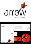 Arrow Logo Design — Stock Photo