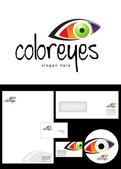 Color eyes Logo Design — Stock Photo