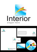 Interior Logo Design — Stock Photo