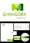 Green Globe Logo Design — Stock Photo