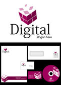 Digital Logo Design — Stock Photo