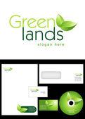 Green Lands Logo Design — Stock Photo
