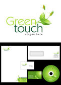 Green touch Logo Design — Stock Photo