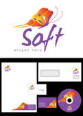 Soft Logo Design — Stockfoto