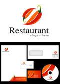 Restaurant Logo Design — Stock Photo