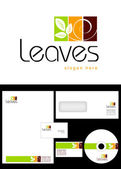 Leaves Logo Design — Stock Photo