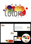 Colors Logo Design — 图库照片