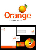 Orange Logo Design — Stock Photo