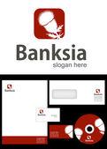 Banksia Logo Design — Stock Photo