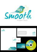 Design de logotipo liso — Foto Stock