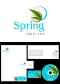 Spring Logo Design — Stock Photo
