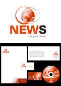 News Blog Logo Design — Stock Photo