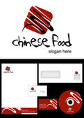 Chinese Food Logo Design — Stock Photo
