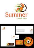 Summer Logo Design — Stock Photo