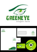 Green eye Logo Design — Stock Photo