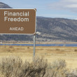 Road Sign - Ahead Series - financial freedom — Stock Photo
