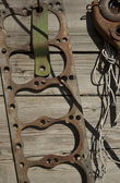 An old rusty gasket hanging — Stock Photo