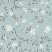 Light floral vintage seamless pattern for retro wallpapers — Stok Vektör