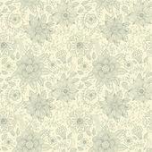 シームレスな花柄の壁紙 — ストックベクタ