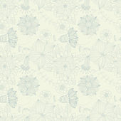 Light floral vintage seamless pattern for retro wallpapers — Stock Vector