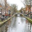 Canal in Delft, Holland — Stock Photo