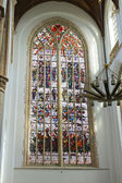 Vidrieras de la iglesia. holanda, delft — Foto de Stock