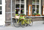Two bicycle near the store. Den Bosch. Netherlands — Stock Photo