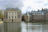 Binnenhof Palace in Den Haag, Netherlands. Dutch Parlament buil — Stock Photo