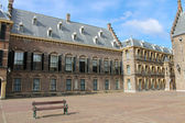 The Binnenhof at Den Haag, building of the dutch parliament and — Stock Photo