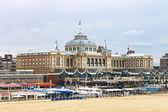 Dutch beach resort with famous Kurhaus hotel . Netherlands, Den — Stock Photo
