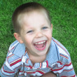 Portrait of a laughing boy — Stock Photo