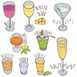 Stock Vector: Alcoholic drinks