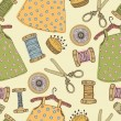 Royalty-Free Stock Vector Image: Baby dress seamless pattern