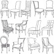 Chairs&armchairs — Stock Vector #10662346