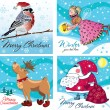 Christmas cards set — Stock Vector