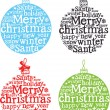 Christmas decoration with words — Stock Vector #10662360