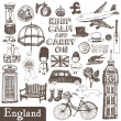 Royalty-Free Stock Vector Image: England set