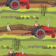 Farm background - Stock Vector