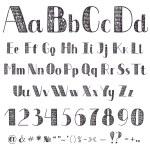 Hand drawing alphabet — Stock Vector