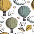 Royalty-Free Stock Imagen vectorial: Hot Air Balloons background