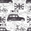 i love uk — Stock Vector