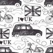 I love UK — Stock Vector
