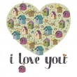Royalty-Free Stock Vector Image: I love you card