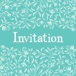 Invitation design card — Imagen vectorial