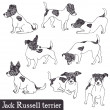 Jack Russell Terrier set - Stock Vector