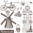 Stock Vector: Netherlands set