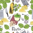 Stock Vector: Pesto background