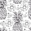 Pineapple fresh seamless pattern — Stock Vector
