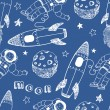 Rockets seamless pattern — Stock vektor