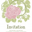 Rose flower invitation — Stok Vektör